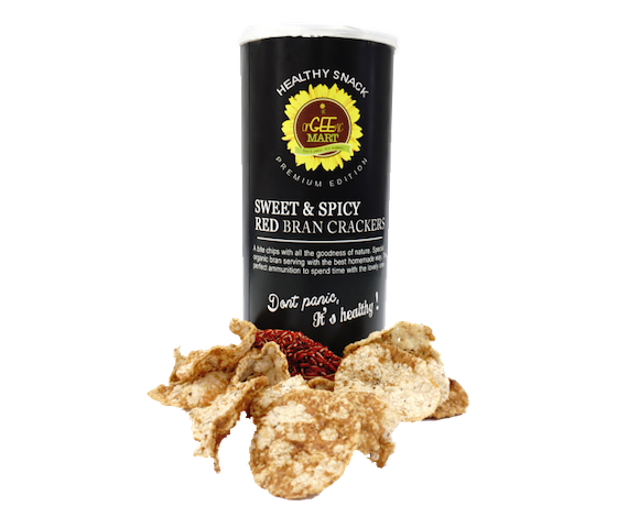 Orgeenic Mart Sweet & Spicy Red Bran Crackers 120 gr