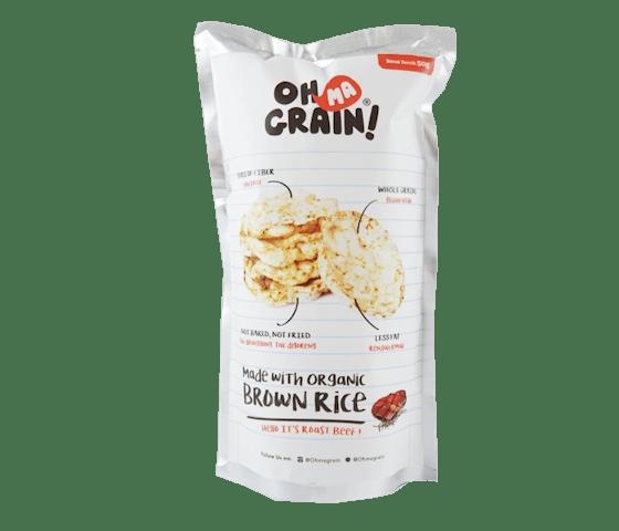 Oh Ma Grain! Keripik Beras Sapi Panggang