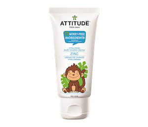 Attitude Little Ones Sensitive Skin Natural Baby Diaper Cream - Zinc 75 gr