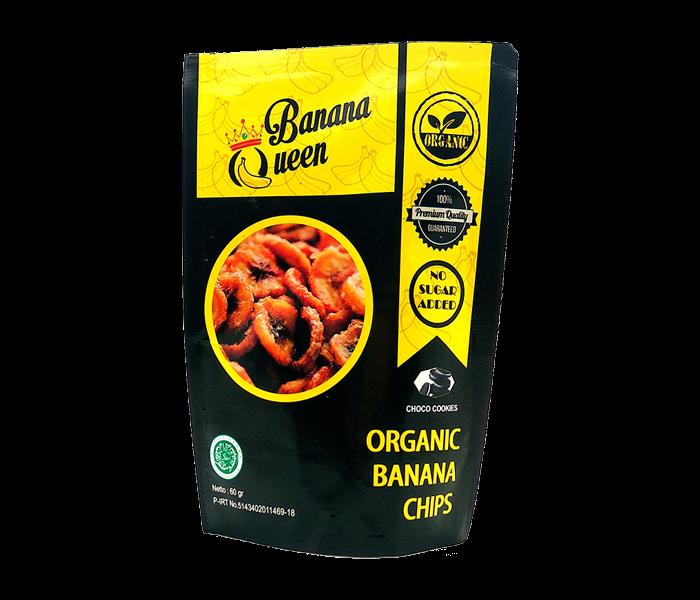 Banana Queen Organic Banana Chips Choco Cookies 60 gr