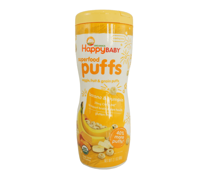 Happy Baby Superfood Puffs Pisang Labu Bebas Gluten