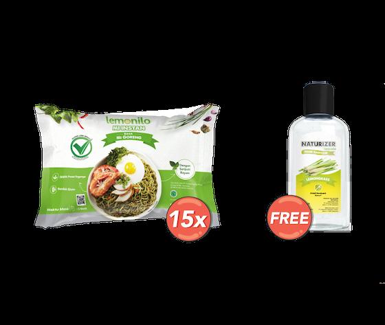 Paket 15 Mie Goreng GRATIS Naturizer Lemongrass