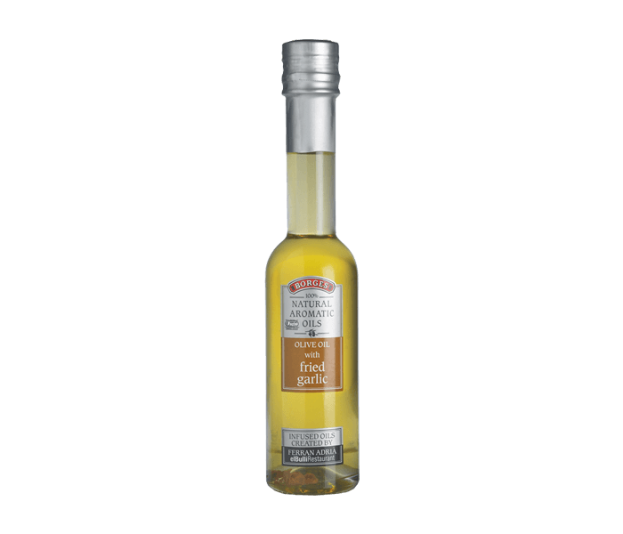 Borges Natural Aromatic Olive Oil with Fried Garlic 200 ml