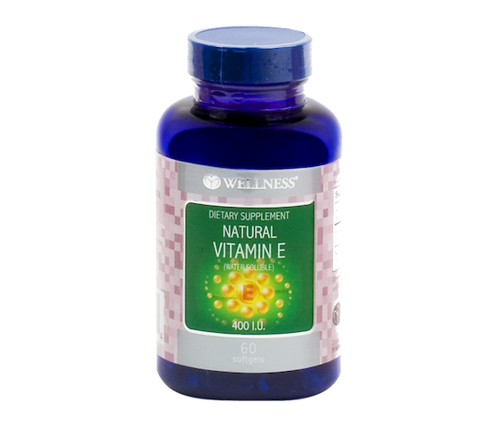 Wellness Natural Vitamin E Water Soluble 400 IU 60 Kapsul