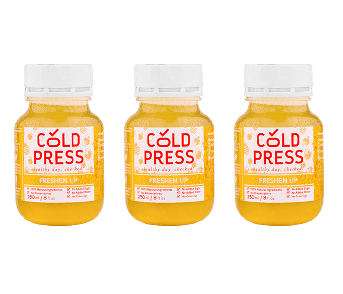 Cold Press Freshen Up Daily Juice Pack of 3