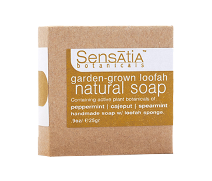 Sensatia Bar Soap Natural Garden Grown Loofah 25gr