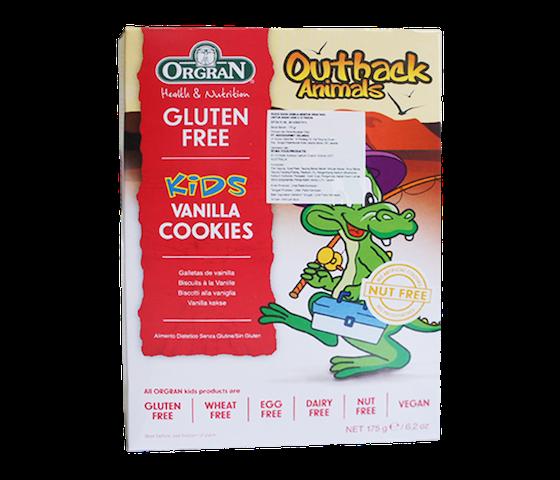 Orgran Kids Cookies Vanila Bebas Gluten (Box)