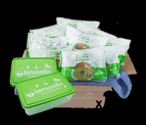 [Promo] Buy LemoniloBOX Paket Lemonilo Mie Goreng Instan Alami Isi 20 Free Lunch Box Lemonilo