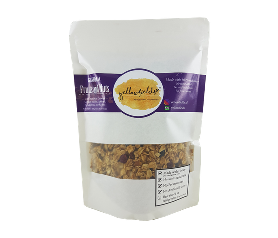 Yelllowfields Fruits and Nuts Granola 400 gr