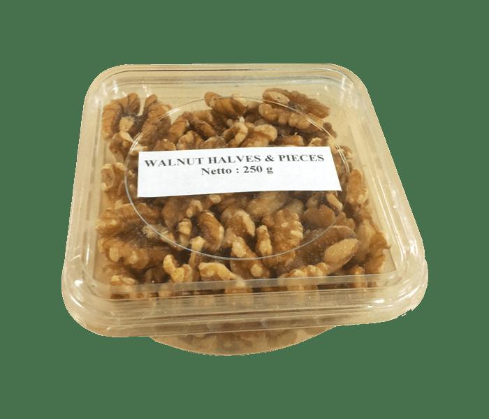 Prambanan Light walnut Halves & Pieces 250 gr