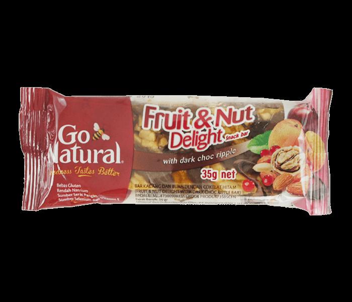 Go Natural Bar Kacang, Buah & Dark Choco