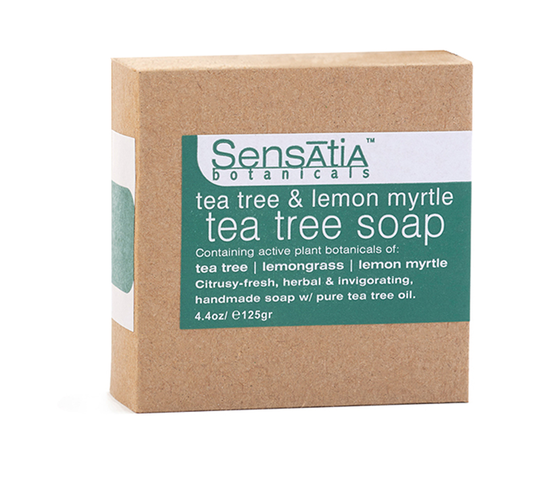Sensatia Botanicals Tea Tree & Lemon Myrtle Tea Tree Soap 125 gr