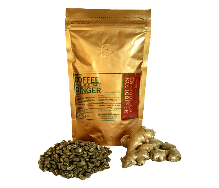 Treoto Green Ground Coffee Ginger 200 gr