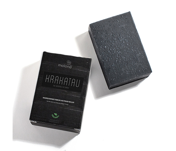 Molona Activated Bamboo Charcoal & French Red Clay Soap Krakatau