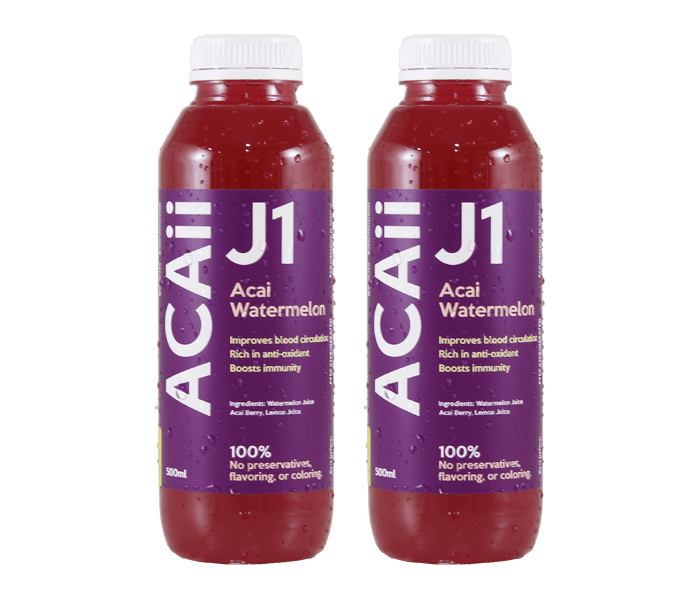 Acaii Acai Watermelon Juice Pack of 2