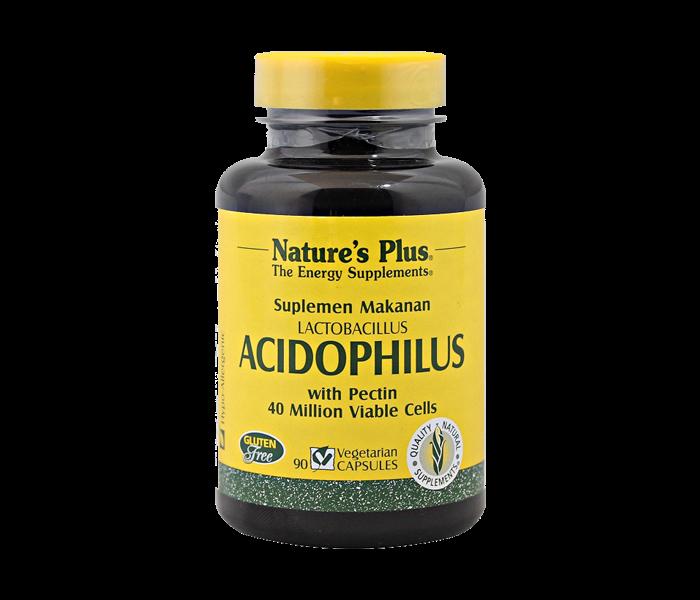 Nature's Plus Lactobacillus Acidophilus with Pectin 90 Kapsul