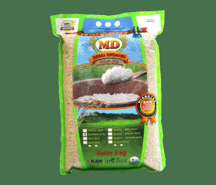 MD Beras Cokelat Organik 5 kg