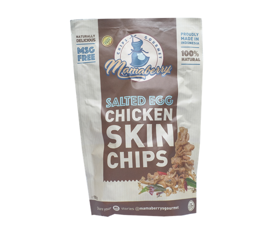 Mamaberry Salted Egg Chicken Skin Chips 100 gr