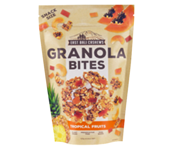 East Bali Cashews Granola Bites Tropical Fruits 125 gr