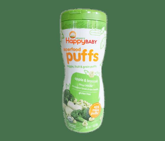 Happy Baby Superfood Puffs Apel Brokoli Bebas Gluten