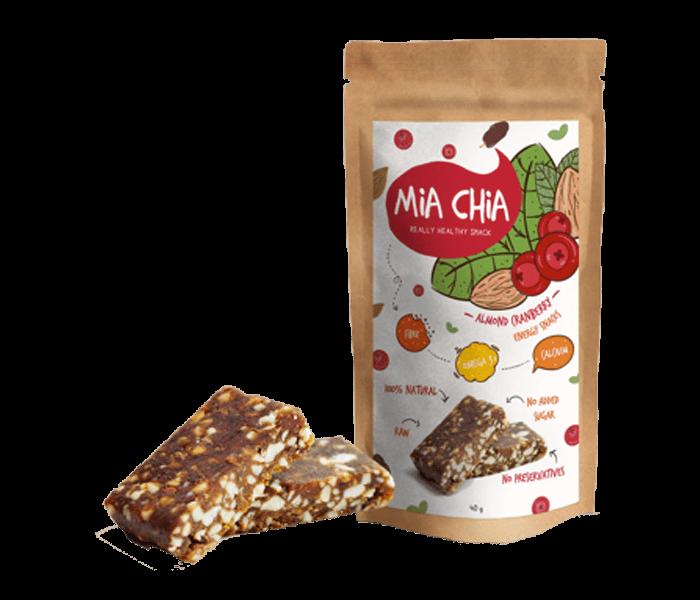 Jual Mia Chia Energy Bar Almond & Cranberry hanya di Lemonilo.com