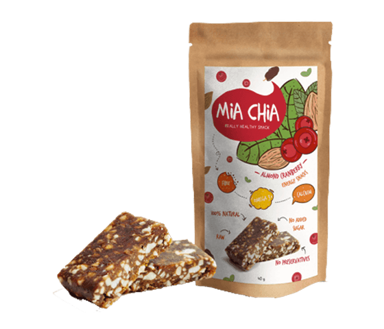 Mia Chia Energy Bar Almond & Cranberry