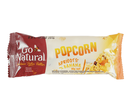 Go Natural Bar Popcorn Aprikot Pisang