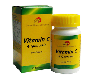 Golden Bear Laboratory Vitamin C + Quercetin (Acid-Free)