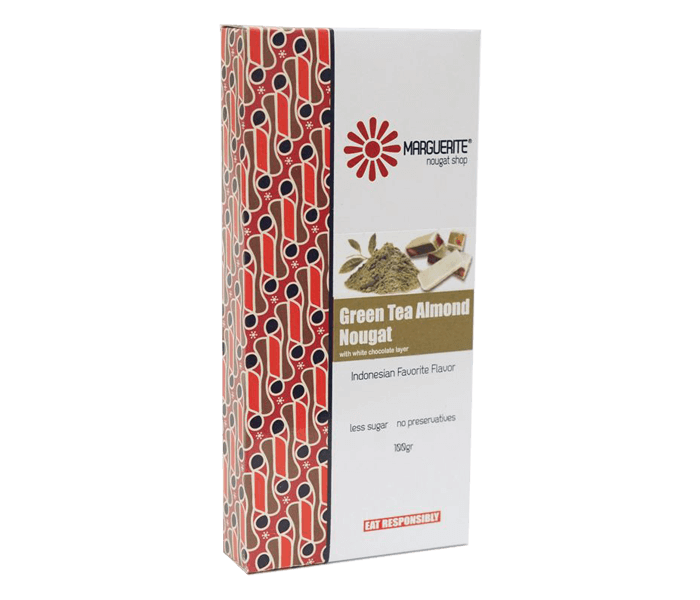 Marguerite Green Tea Almond Nougat 125 gr