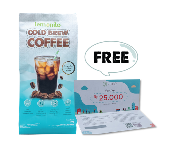 [Promo] BUY 1 Lemonilo Cold Brew Coffee GET FREE Fore Voucher