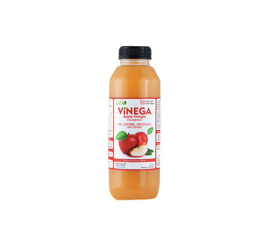 Vinega Apple Vinegar (Cuka Apel Alami) 500 ml