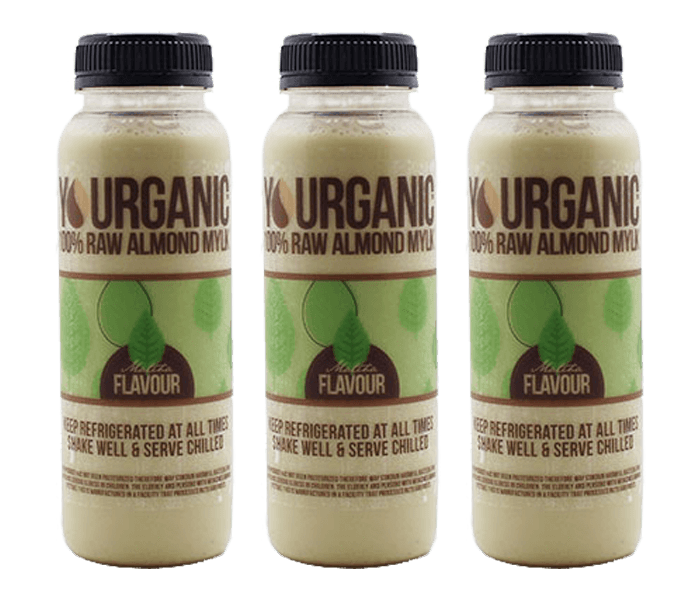 Yourganic Raw Almond Mylk Matcha 250 ml Pack of 3
