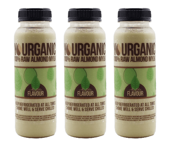 Yourganic Raw Almond Mylk Matcha 250 ml Pack of 3