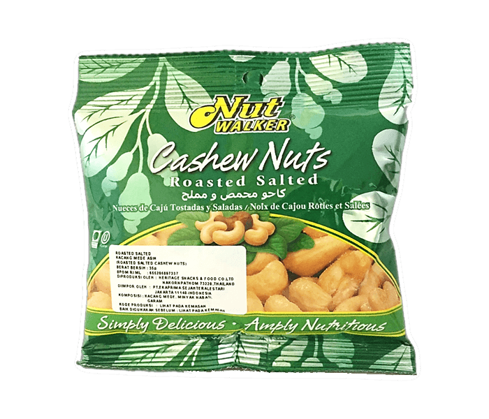 Nut Walker Cashews Nuts Roasted Salted 35 gr