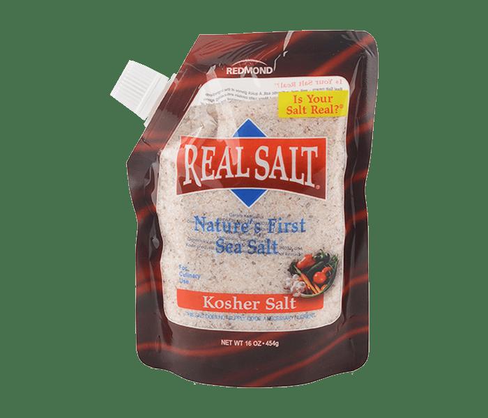 Redmond Kosher Sea Salt Stand Up Pouch 454 gr