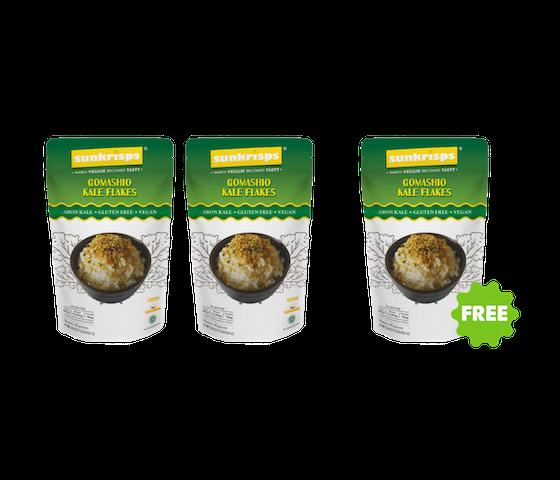 [Promo] BUY 2 GET 1 FREE Sunkrisps Gomashio Kale Flakes (Abon Kale) 40 gr