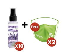BUY 10 Naturizer Hand Sanitizer by Lemonilo FREE Masker Kain