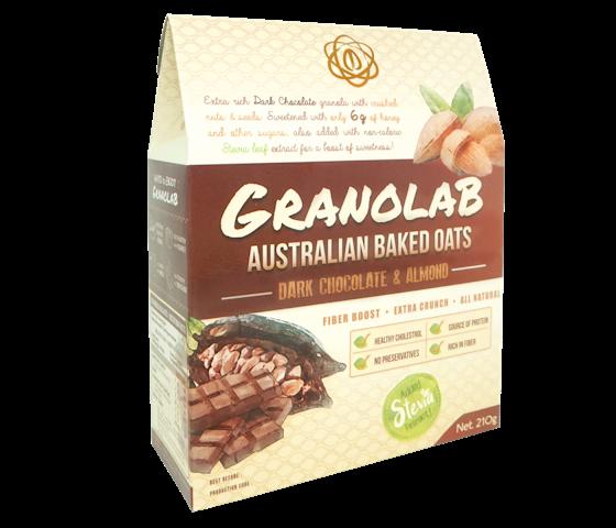 Granolab Australian Baked Oats Dark Chocolate & Almond 210 gr