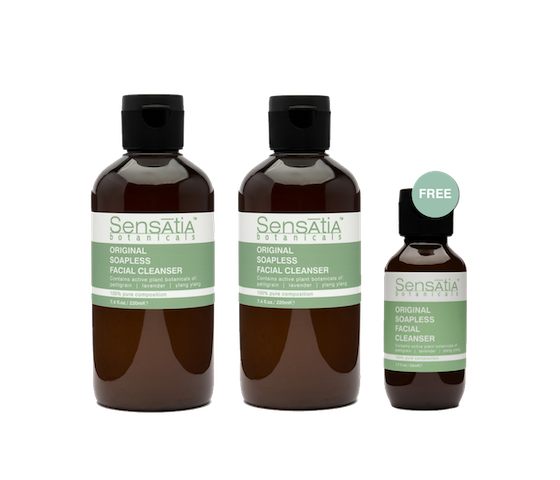 Sensatia Botanicals Original Soapless Facial Cleanser Twin Pack 220 ml FREE Original Soapless Facial Cleanser Travel Size 50 ml