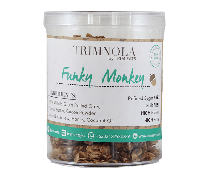 Trim Eats Trim Nola Funky Monkey Chunky Granola (Container)