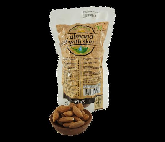 Trio Kacang Almond Panggang Alami 225 gr