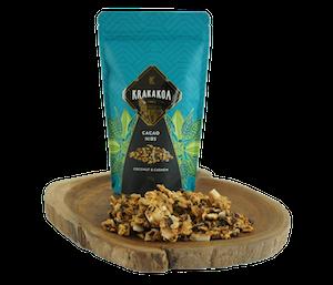 Krakakoa Cacao Nibs Cokelat Kacang Mede Kelapa
