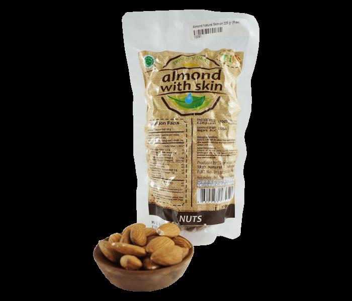 Trio Kacang Almond Mentah Alami 225 gr