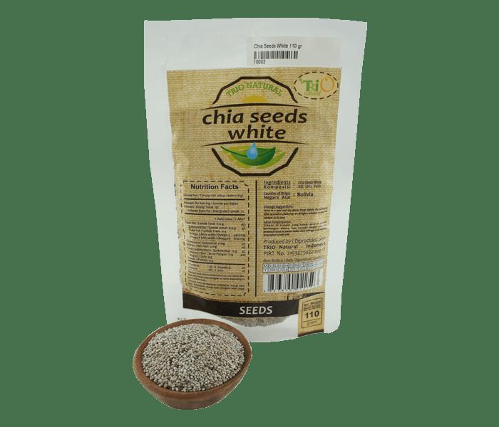 Trio Chia Seeds Putih Alami 110 gr