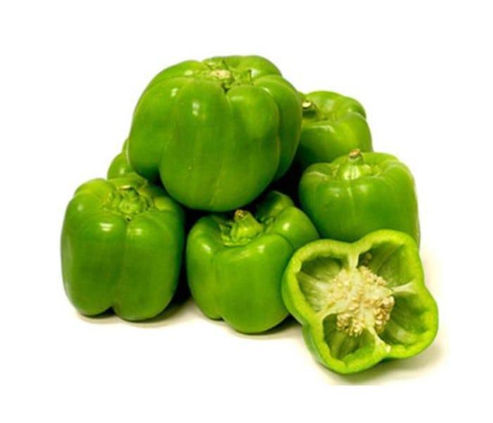 Keranjang Sayur Paprika Hijau Organik