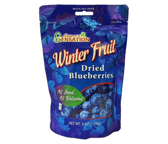 Nature's Sensation Dried Blueberries 170 gr