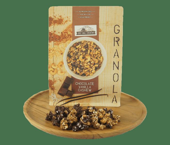 Jual East Bali Cashews Granola Kacang Mede Cokelat Vanila hanya di Lemonilo.com