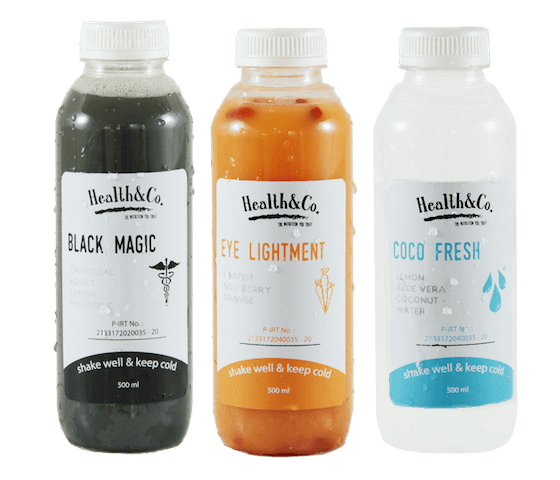 Health & Co. 3 Botol Sampler Pack Cold Pressed Juice @500ml