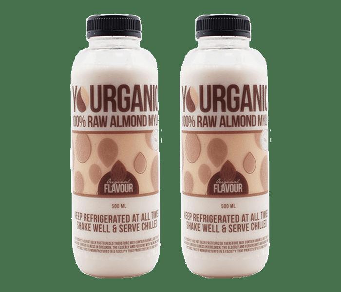 Yourganic Original Raw Almond Mylk 500 ml Pack of 2
