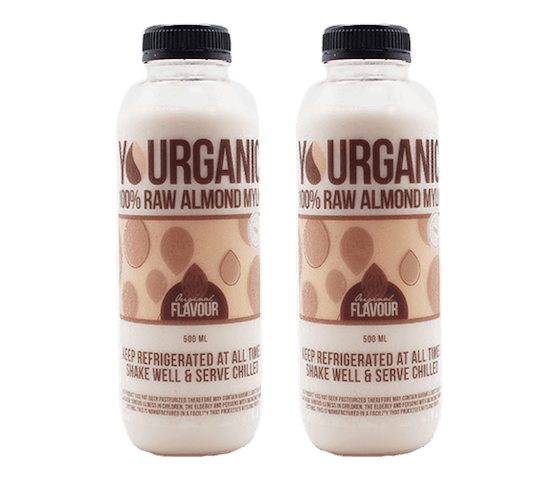 Yourganic Original Raw Almond Mylk 500 ml Pack of 2